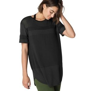 Beyond Yoga Full Transparency mesh tunic